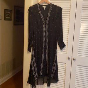 Joie Jamya Pleated Silk Dress size 4